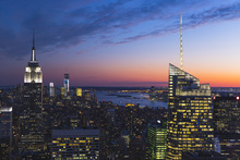 Canvas print - Illuminated Manhattan