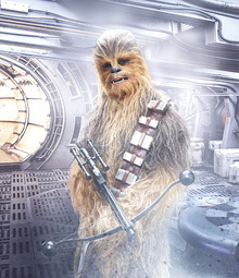 Canvastavla - Star Wars - Chewbacca with Bowcaster