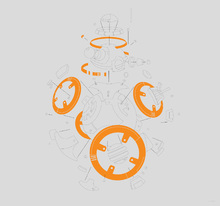 Canvastavla - Star Wars - Graphic BB-8