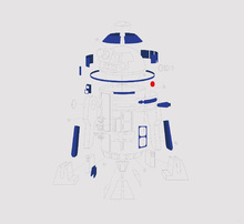 Canvastavla - Star Wars - Graphic R2-D2