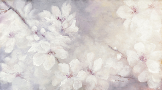 Cherry blossoms painting wall mural photo wallpaper for Cherry blossom mural works
