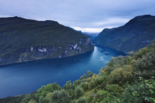 Canvas print - Blue Hour at Geiranger Fjord