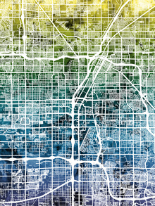 Canvas print - Las Vegas Street Map Bluegreen