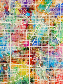 Canvas print - Las Vegas Street Map Multicolour