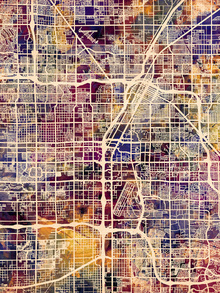 Canvas print - Las Vegas Street Map Purple