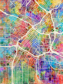 Canvas print - Los Angeles Street Map Multicolour