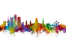 Canvas print - Brussels Skyline