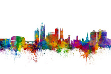 Canvas print - Derby Skyline