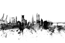 Canvas print - Southhampton Skyline Black