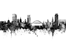 Canvas print - Sunderland Skyline Black