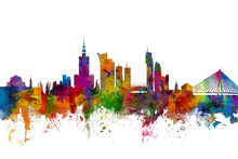 Canvas print - Warsaw Skyline