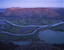 Canvas print - Blue Hour in Sarek