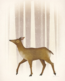 Wall mural - Snowy Doe
