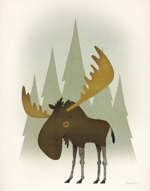 Wall mural - Forest Moose
