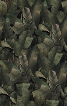 Wallpaper - Botany Tropical Kale Green