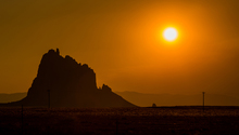 Wall mural - Shiprock at Sunset