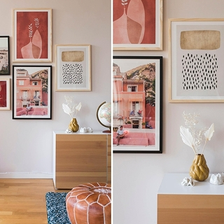 Inspiracje i porady dotyczące ściany z obrazami – własne obrazy w ramach