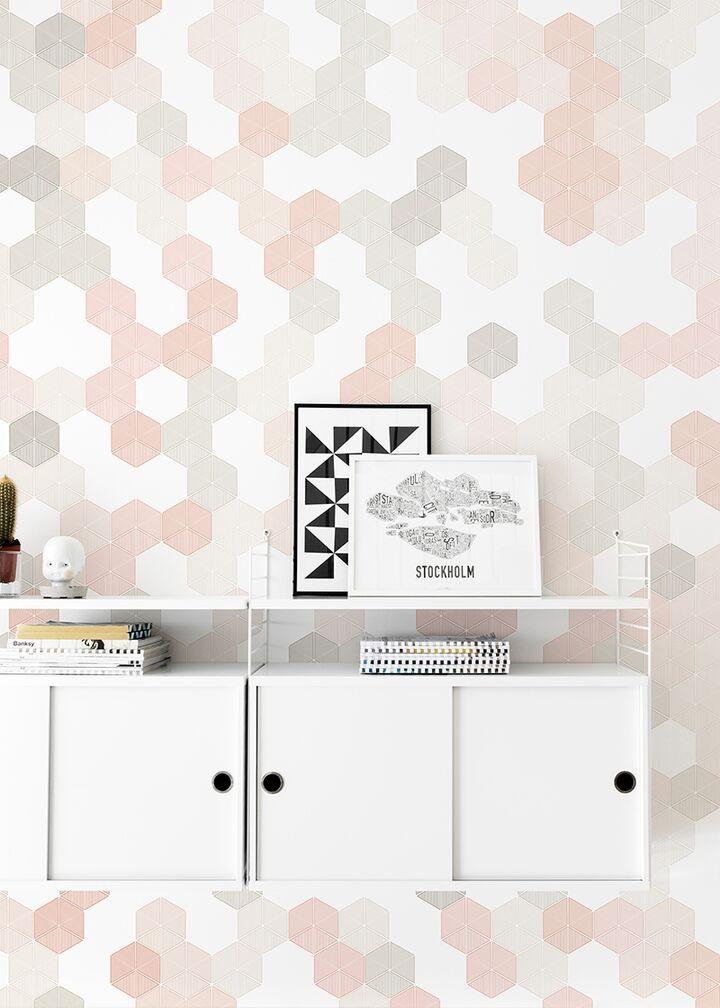 Hexagon - Pink
