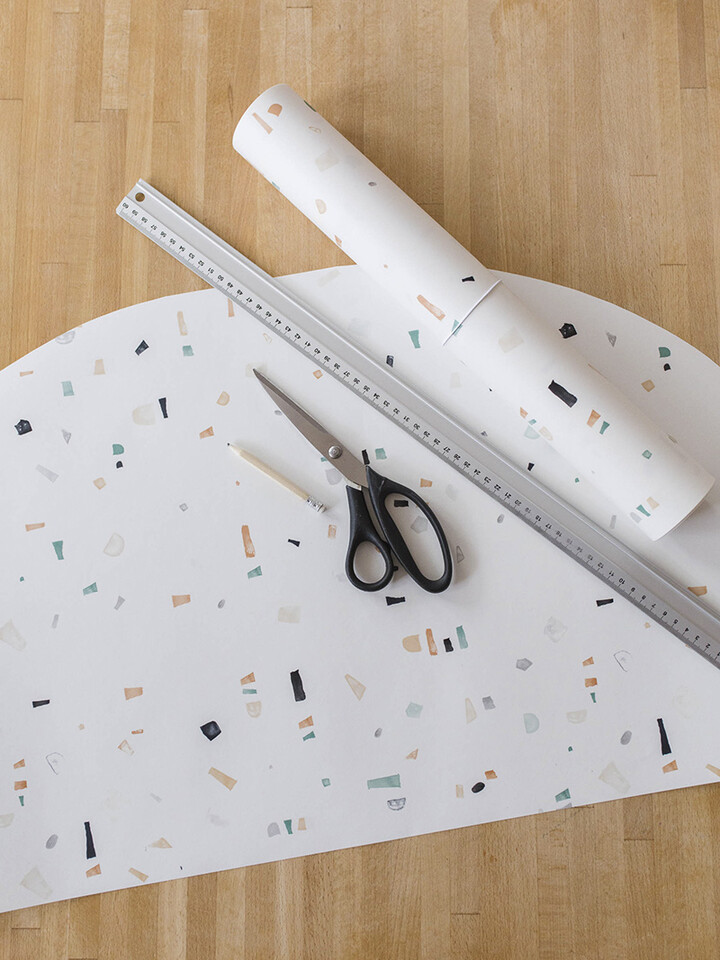 DIY Wallpaper desk pad