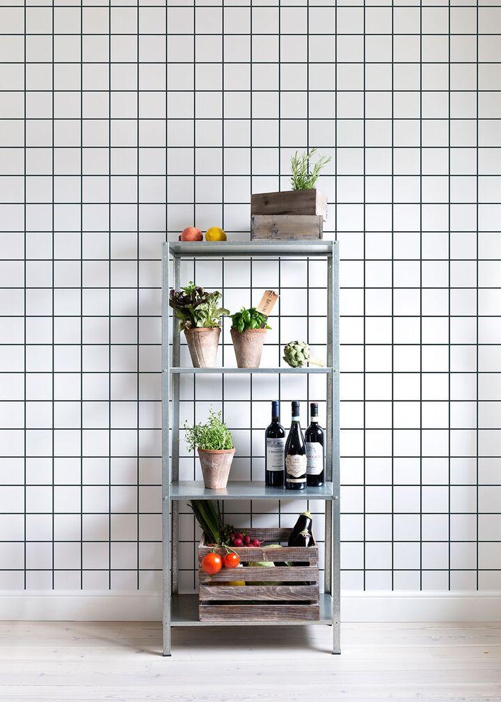 White Ceramic Tiles - 10x10 Antracit Seam