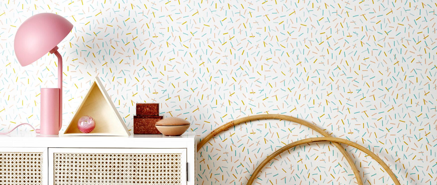 Sprinkles yellow papel pintado personalizado y de alta for Papel pintado personalizado