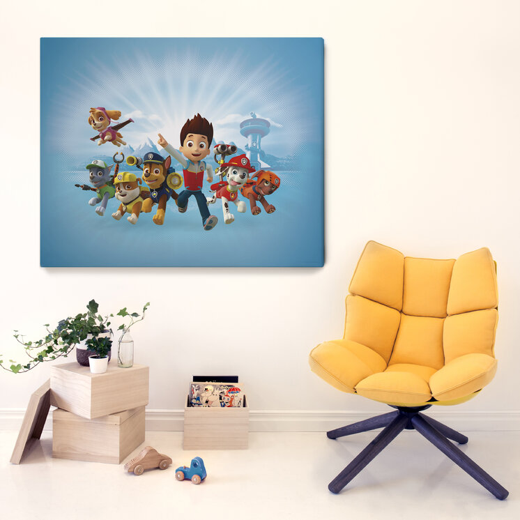 paw patrol paw patrol is on a roll leinwandbilder f r jedes ambiente photowall. Black Bedroom Furniture Sets. Home Design Ideas
