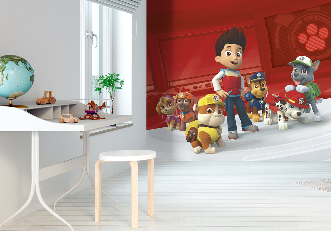 paw patrol no job is to big no pup is to small preiswerte fototapete photowall. Black Bedroom Furniture Sets. Home Design Ideas
