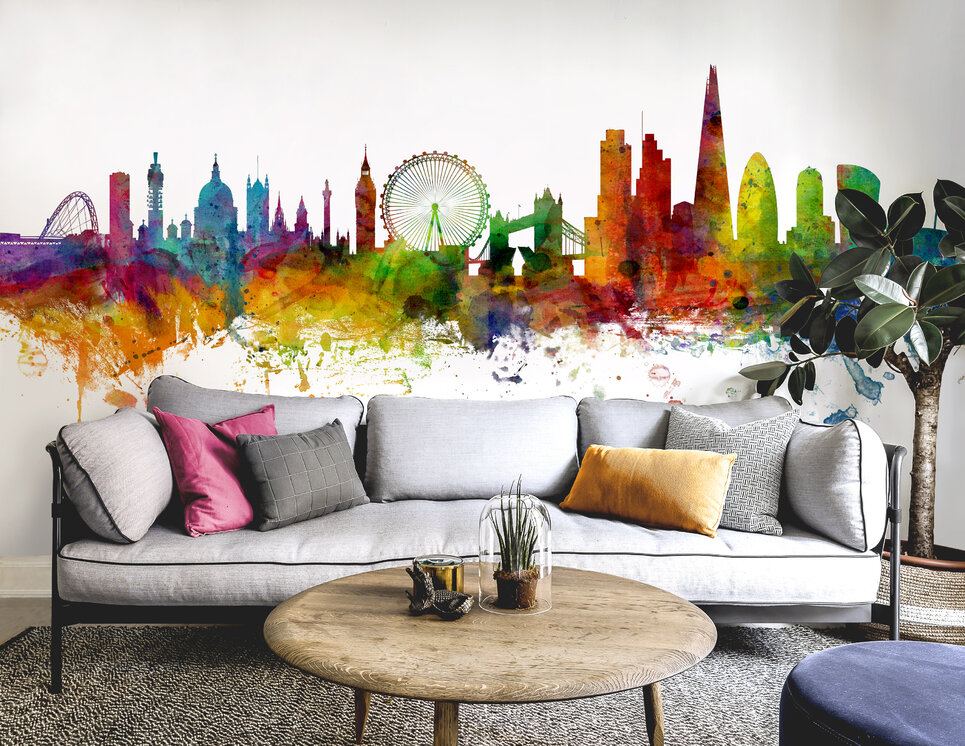 london skyline 2 fototapete nach ma photowall. Black Bedroom Furniture Sets. Home Design Ideas