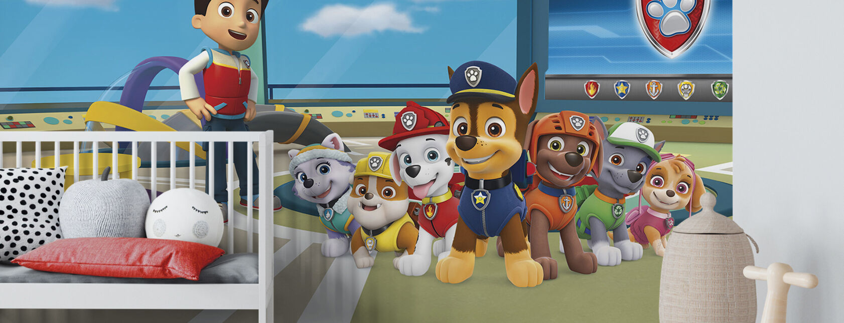 paw patrol beliebte wandmotive photowall. Black Bedroom Furniture Sets. Home Design Ideas