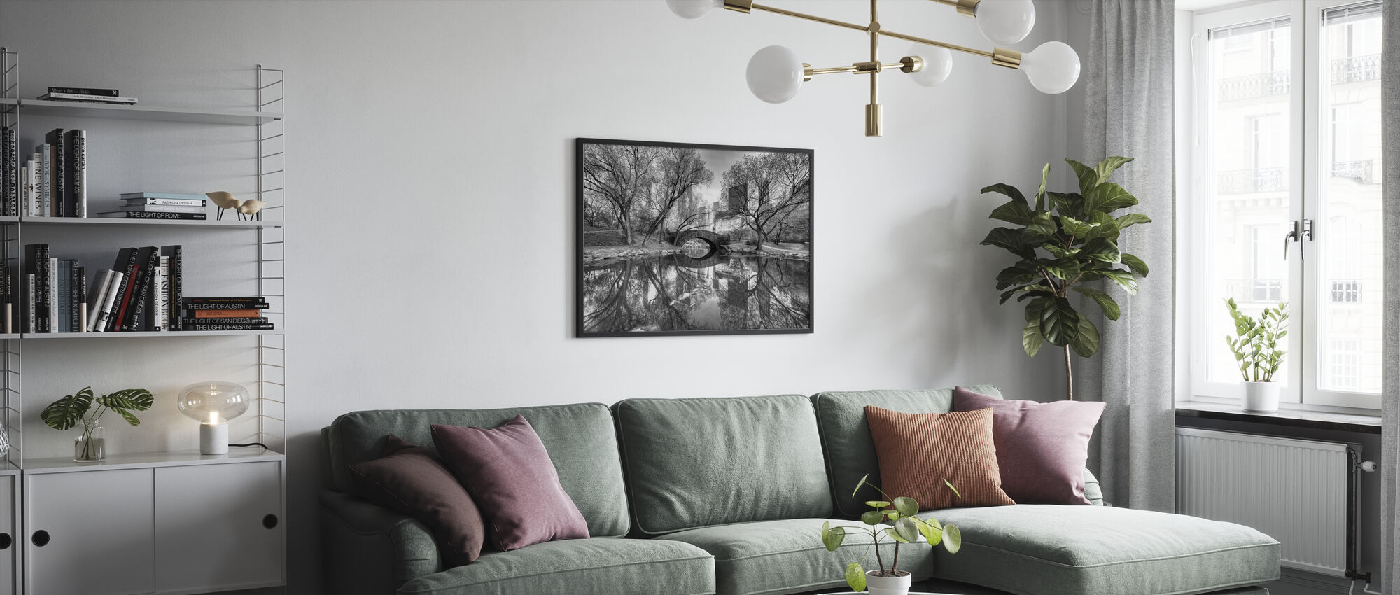 Silta Keskuspuistossa - Kehystetty kuva - Olohuone