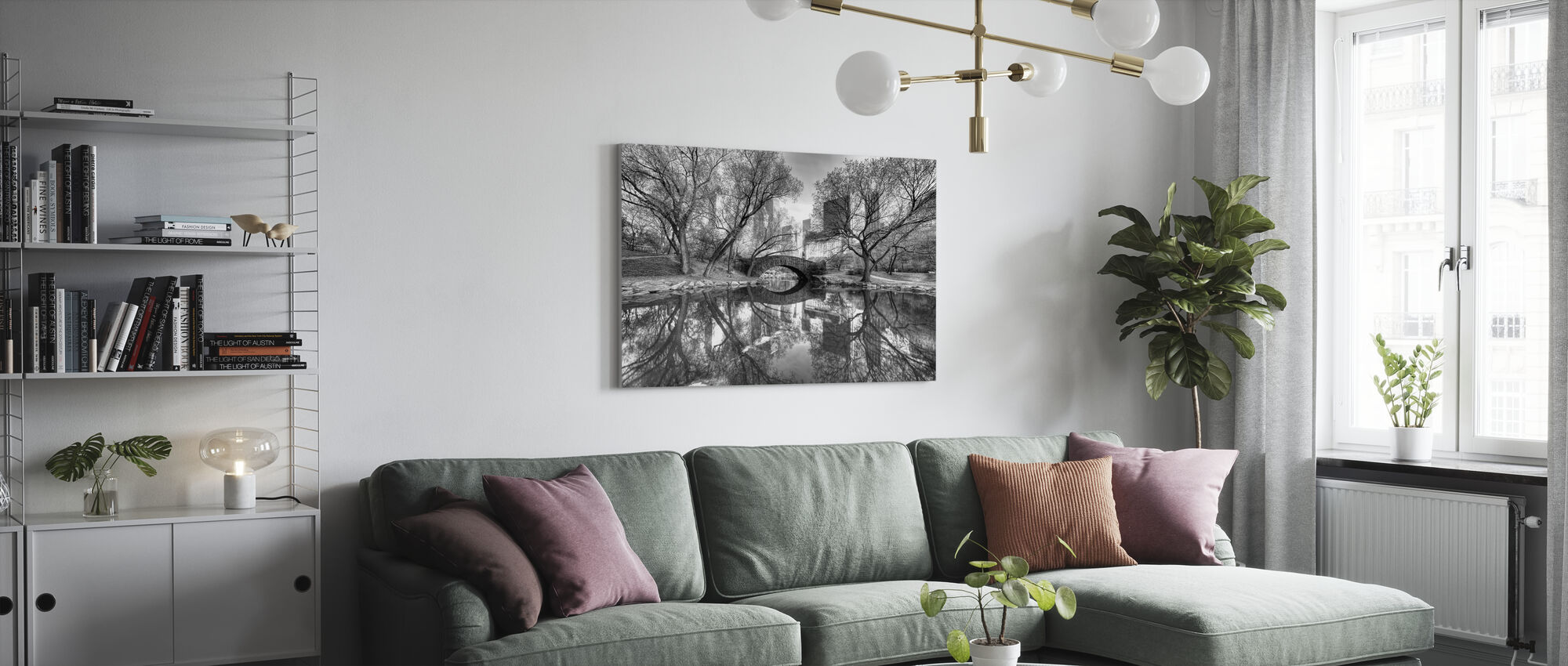 Bridge in Central Park - Canvas print - Living Room