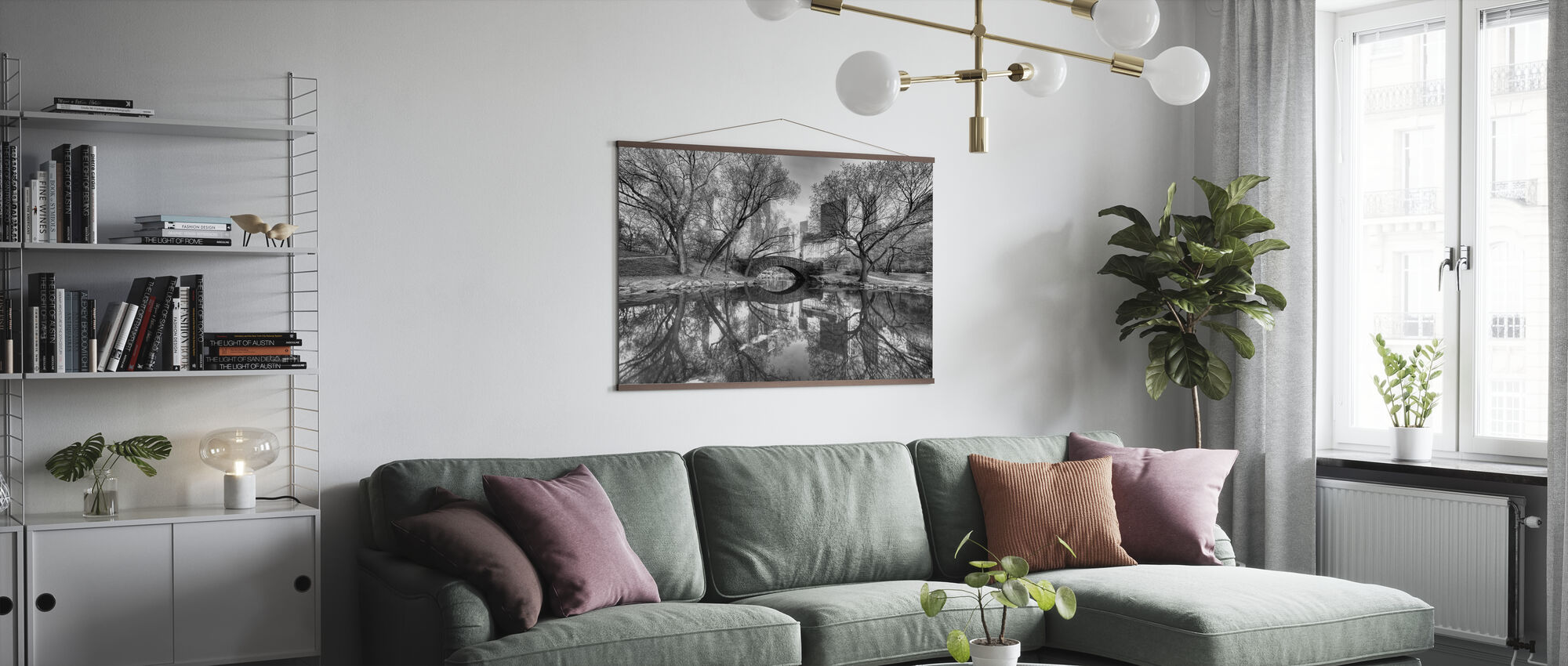 Bridge in Central Park - Poster - Living Room