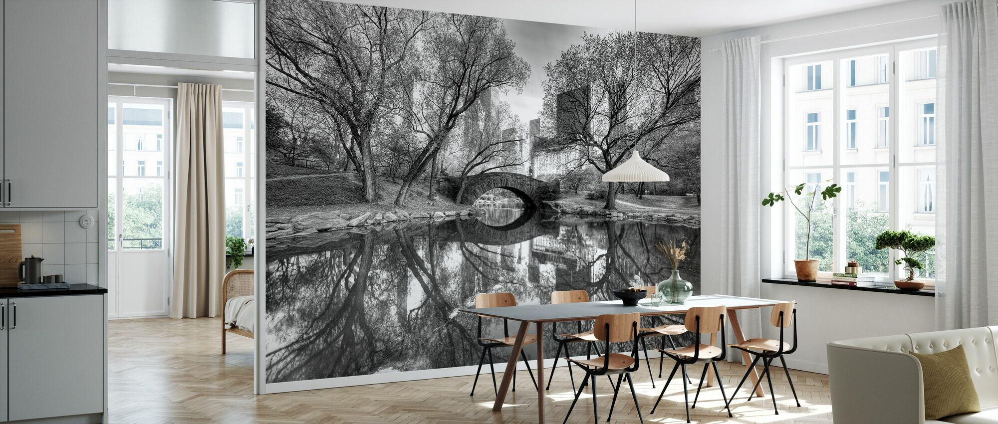 Bridge in Central Park - Wallpaper - Kitchen