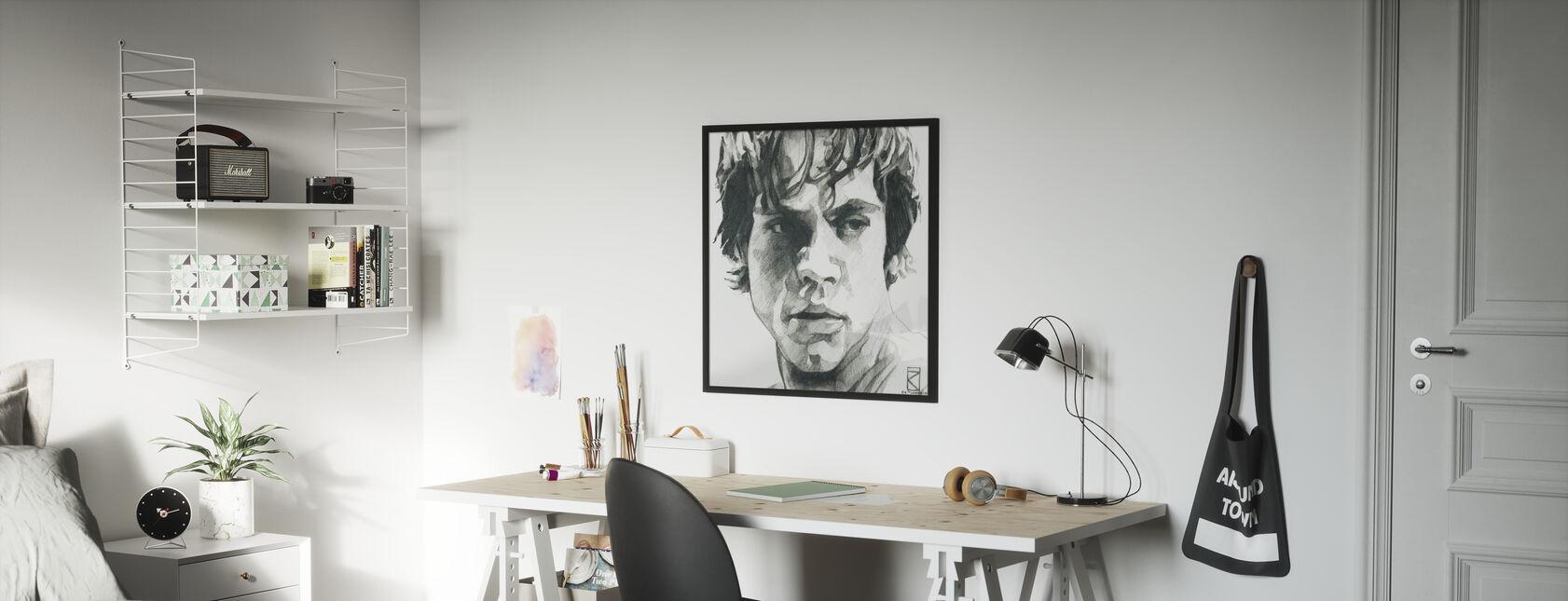 Tähtien sota - Luke Skywalker Grafiitti - Kehystetty kuva - Lastenhuone