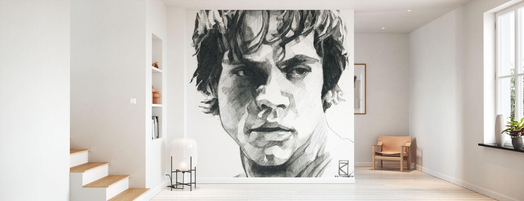 Star Wars - Luke Skywalker, colore: Grafite - Carta da parati - Sala