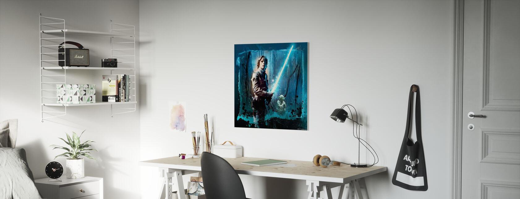 Star Wars - Luke Skywalker e Yoda - Stampa su tela - Camera dei bambini