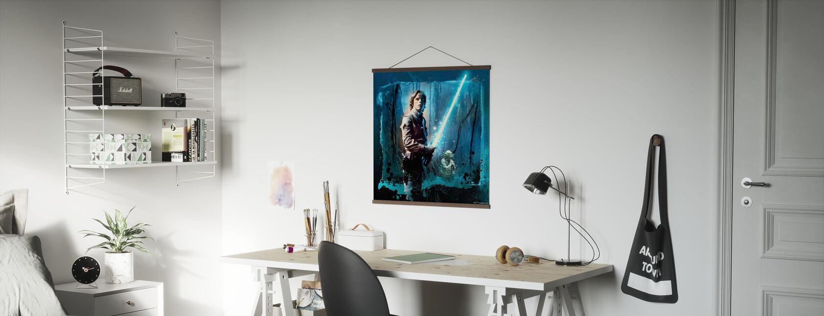 Star Wars - Luke Skywalker e Yoda - Poster - Uffici