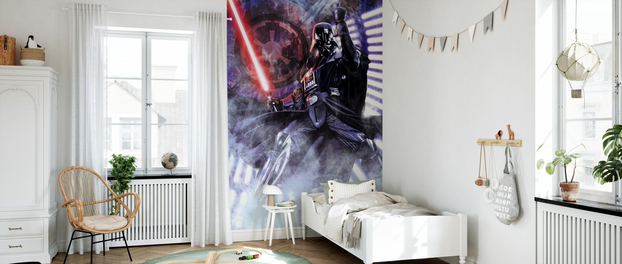 Star Wars - Spada laser Darth Vader - Carta da parati - Camera dei bambini