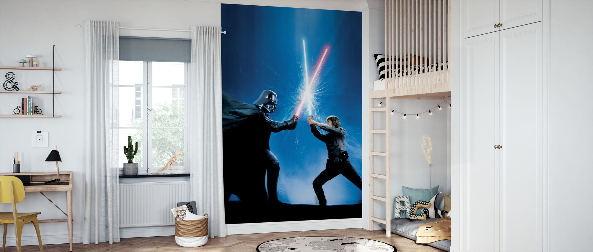 Star Wars - Darth Vader e Luke Skywalker - Carta da parati - Camera dei bambini