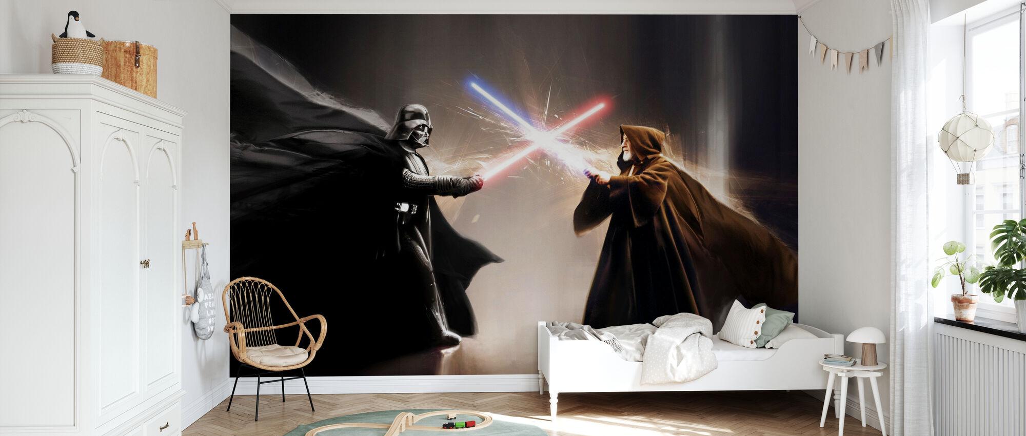 Stjärnornas krig - Darth Vader och Obi-Wan Kenobi - Tapet - Barnrum