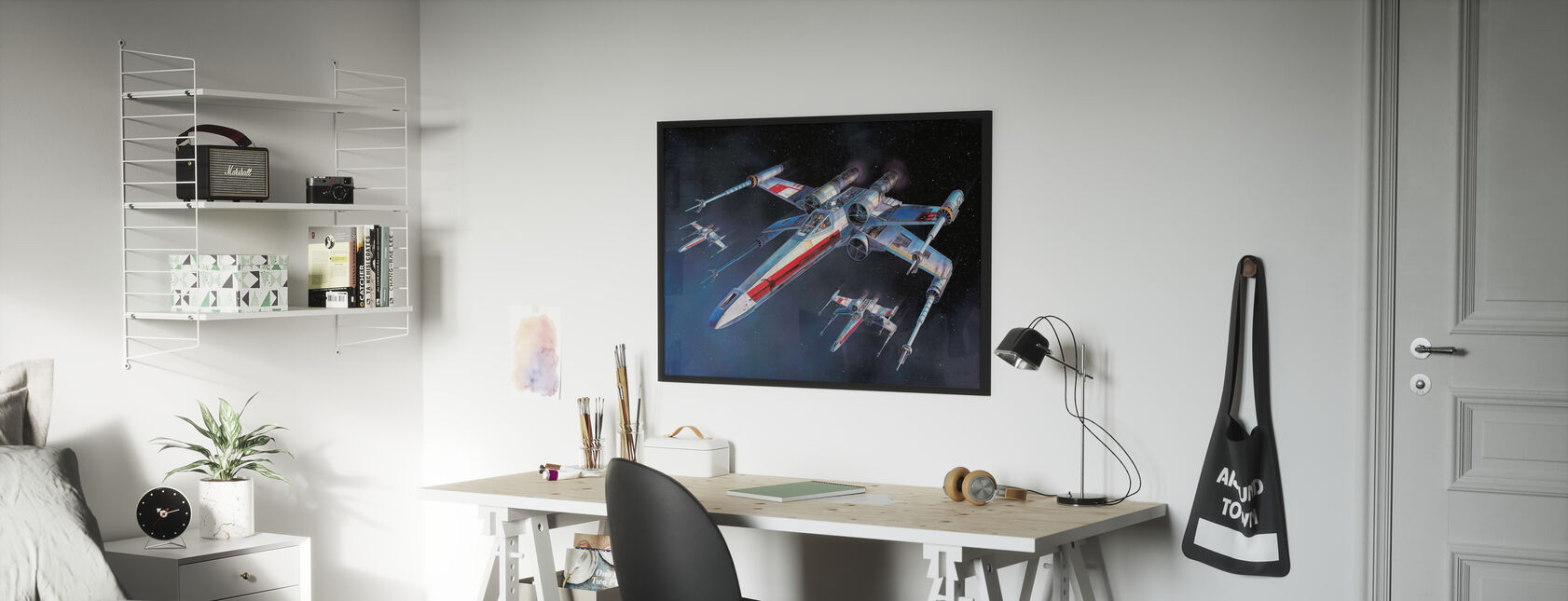 Star Wars - X-wing Starfighters - Inramad tavla - Barnrum