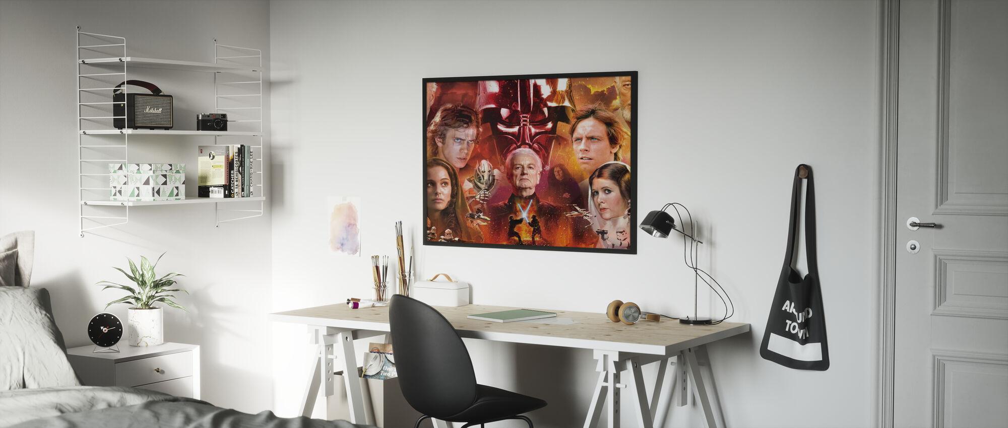 Star Wars - Collage - Innrammet bilde - Barnerom
