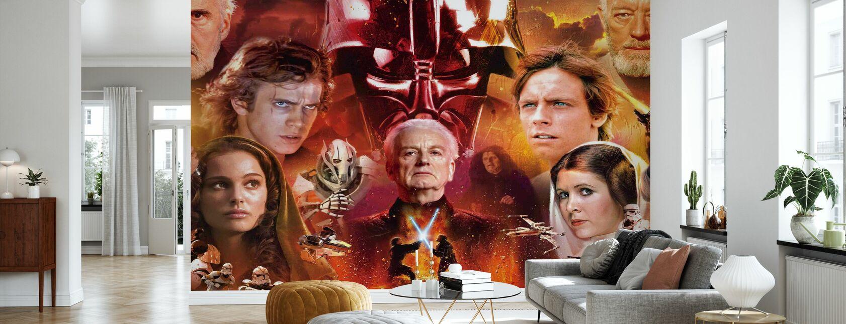 Star Wars - Collage - Carta da parati - Salotto