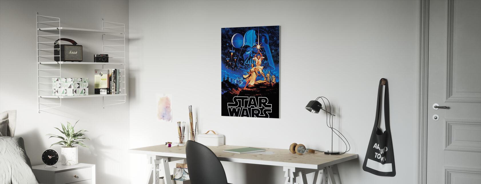 Star Wars - blå himmel plakat - Billede på lærred - Børneværelse