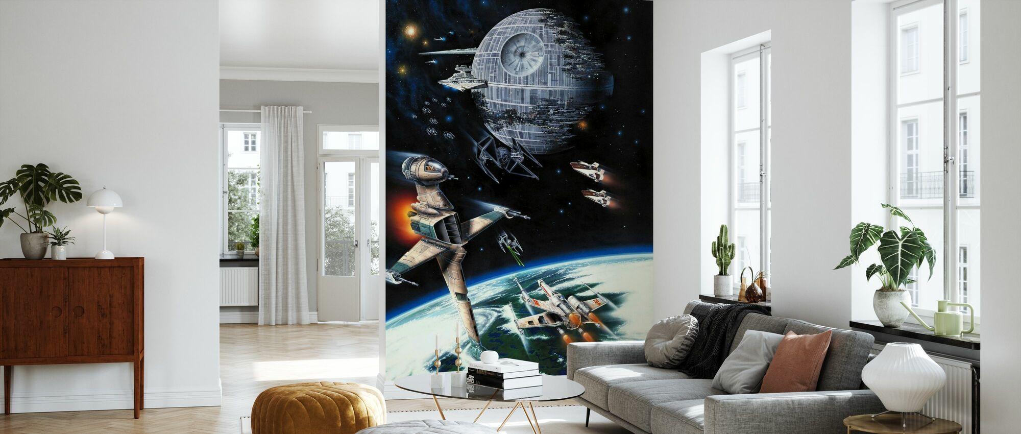 Star Wars - Death Star och Enor - Tapet - Vardagsrum