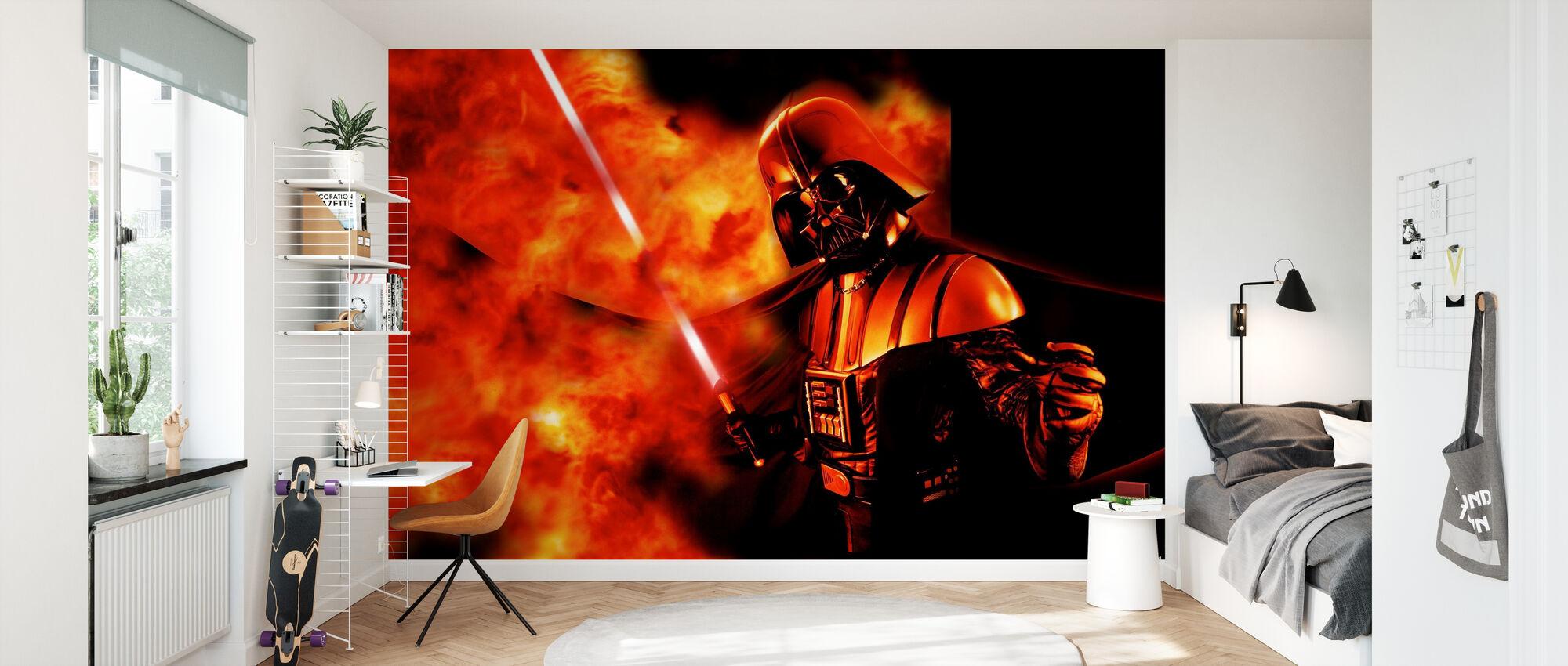 Star Wars - Darth Vader explosion 2 - Tapet - Barnrum
