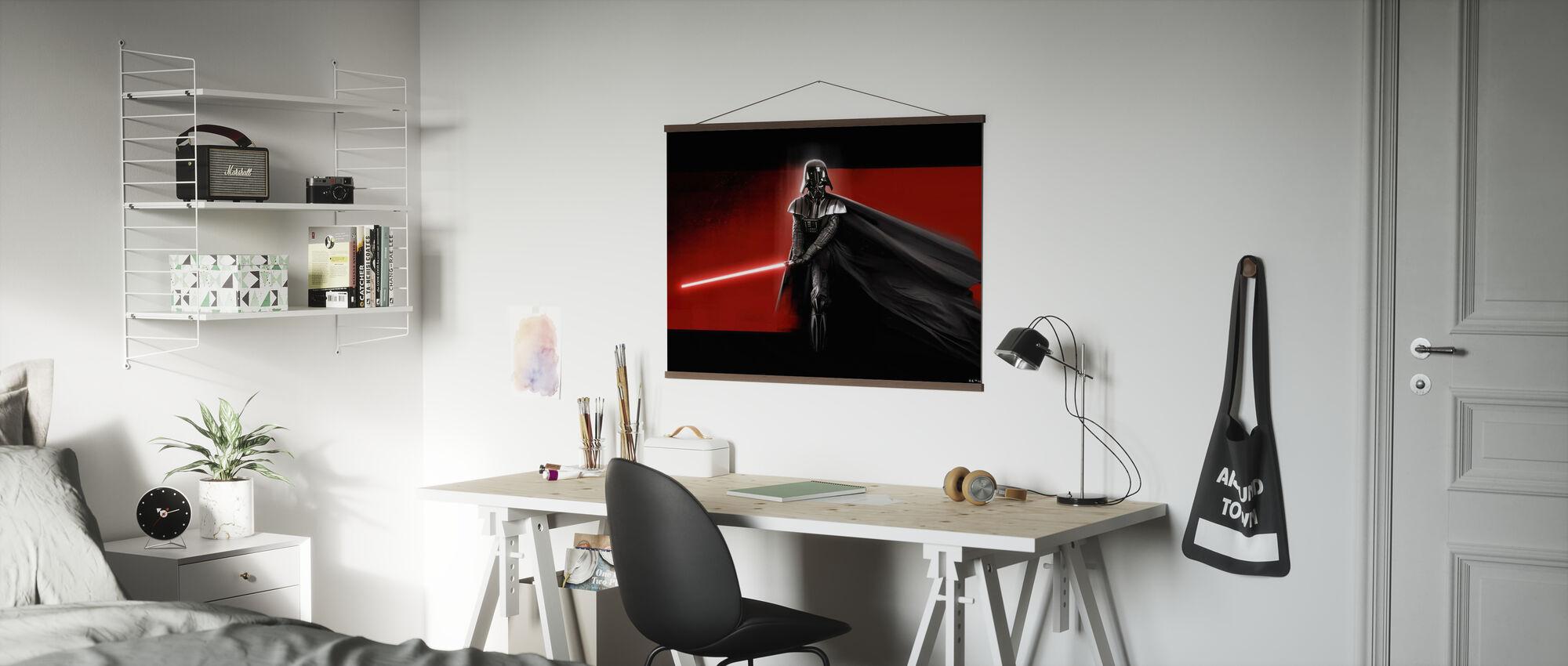 Stjärnornas krig - Darth Vader Röd - Poster - Kontor