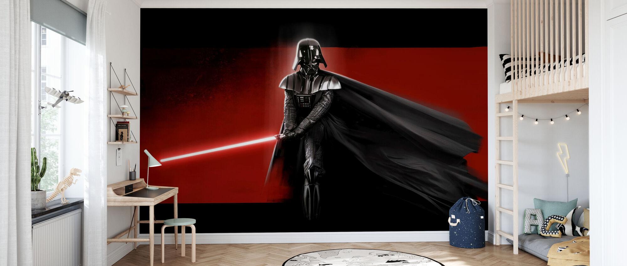 Stjärnornas krig - Darth Vader Röd - Tapet - Barnrum
