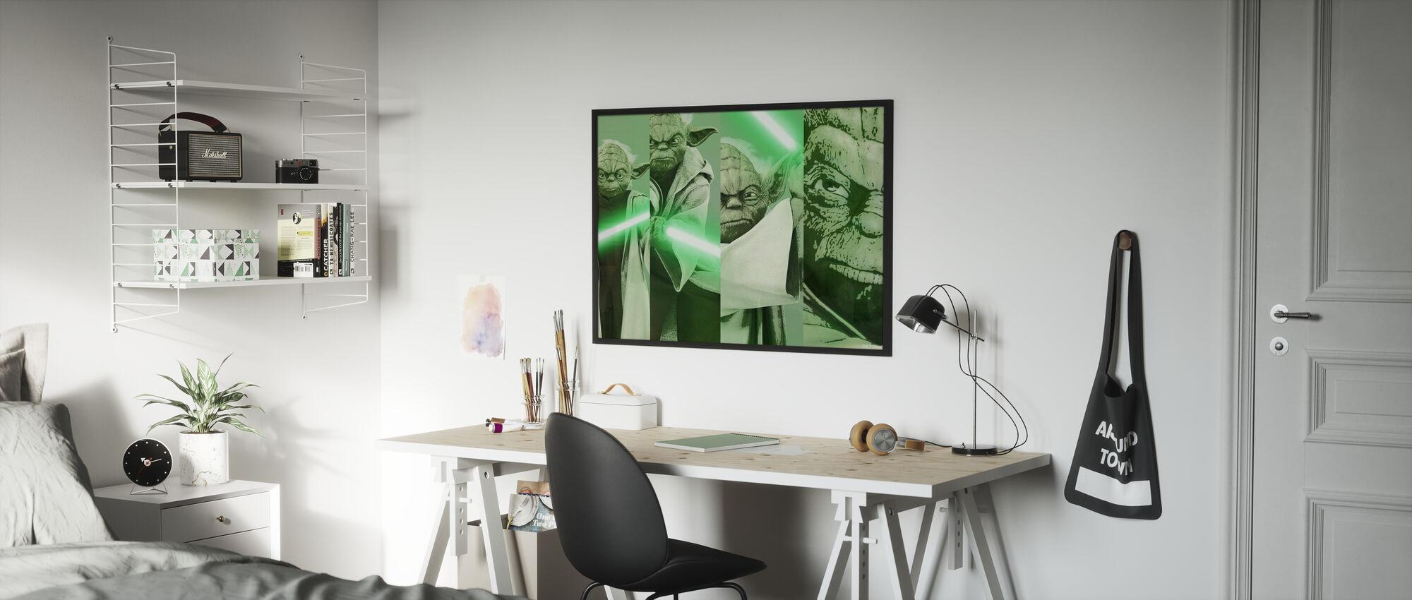 Star Wars - Yoda x 4 - Innrammet bilde - Barnerom