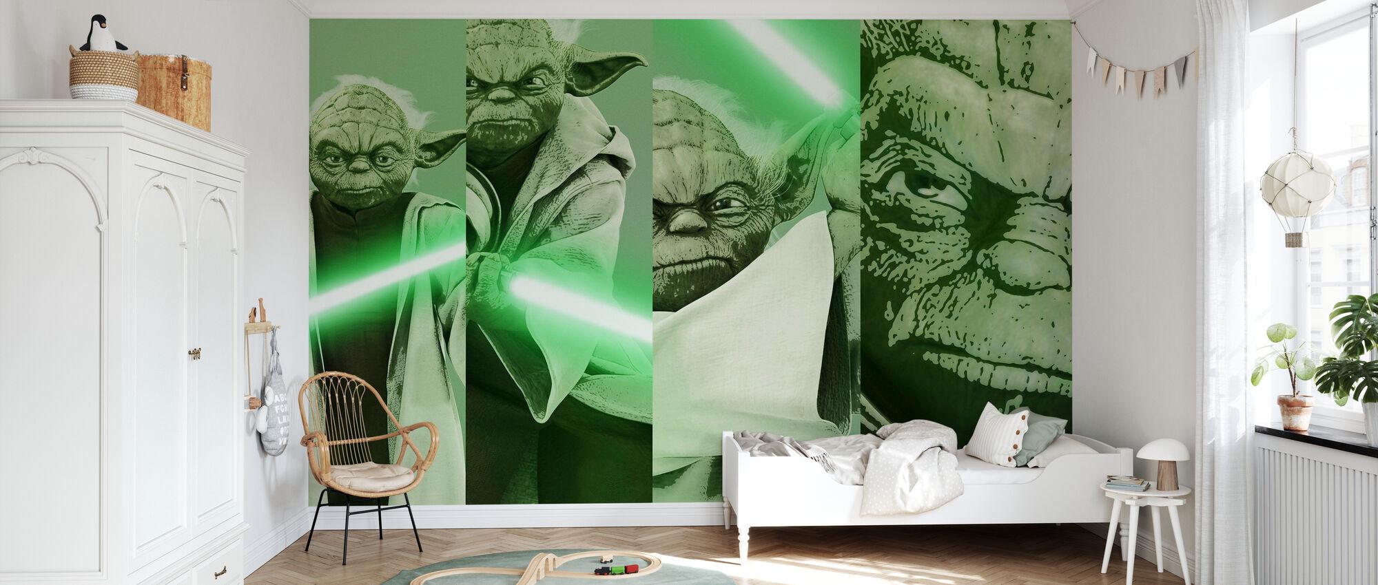 Stjärnornas krig - Yoda x 4 - Tapet - Barnrum